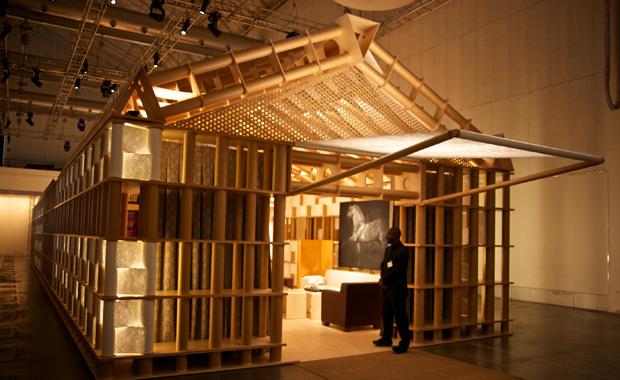 Hermès 'La Maison' pavilion designed by Shigeru Ban. © Paul Barbera