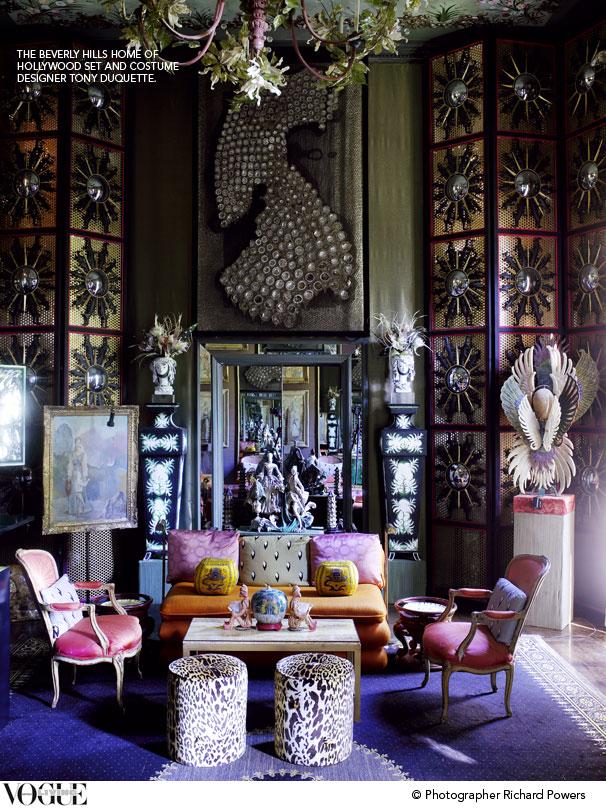 Behind The Scenes Tony Duquette Vogue Living's Blog Delectable Vogue Interior Design Set