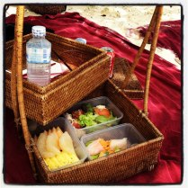 On arrival at Hong Island, we snacked on fresh fruits and salads as part of a post-snorkelling beach picnic. I fell a bit in love with having a butler to lay out my lunch and my towel! Also became a fan of the Pomelo, a citrus fruit native to the region.