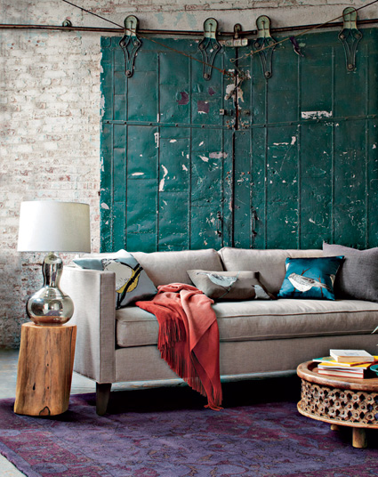 Comfortable and contemporary family-room homewares from West Elm.