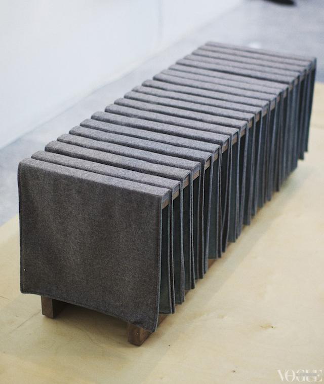 wool bench