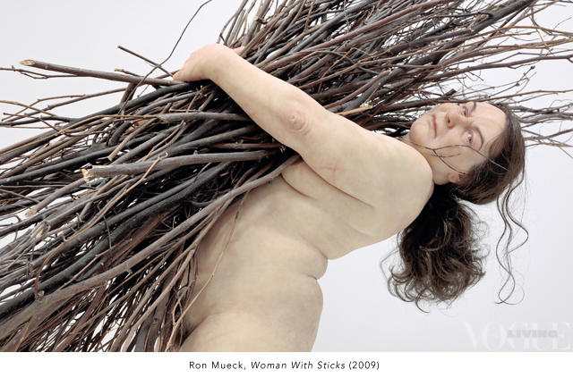 Ron Mueck Woman With Sticks