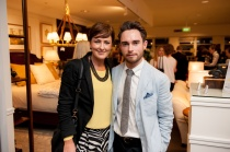 Cassie Mullins with Vogue Living market editor Conor Burke