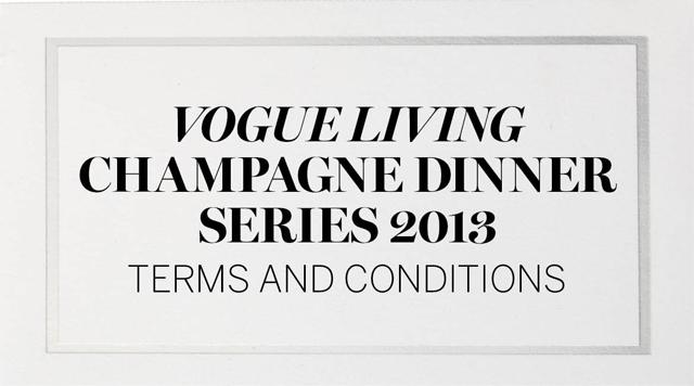 Champagne Dinner T&Cs