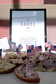 The Bagel Shop catering company's pop up paid homage to Blu Dot's American heritage.