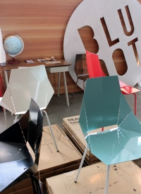 'Real Good' chairs in Blu Dot's showroom in Alexandria.