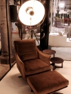 The 'Boss' lounge chair and 'Fortuny' lamp set up at Fanuli's sprawling stand at the Galleria exhibition space.
