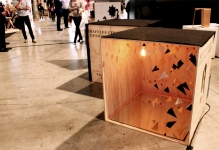 Designs by Raffles College of Design students were scattered around the Galleria at Sydney Technology Park, Alexandria.