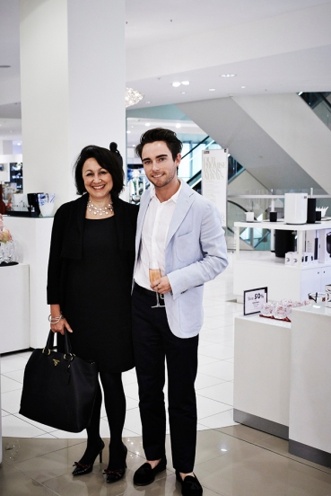 Anne Sullivan from Georg Jensen with Vogue Living market editor Conor Burke