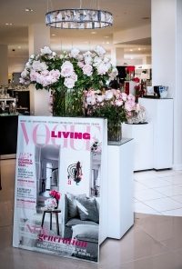 Vogue Living's new look cover with roses by Bird In Hand