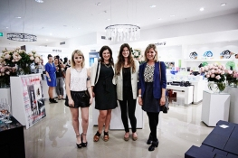 Vogue Living contributing editor Dijana Kumurdian and senior designer Louise Marshall with Samantha Van Egmond and Josie Taylor of Country Style