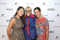 Catherine Martin (centre) with her assistant Rachael Fung (left), and Silvana Azzi Heras, head designer at Bazmark (right)