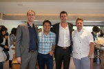 Fabio Fanuli, Jamie Durie, Sandro Fanuli and chef Massimo Mele.